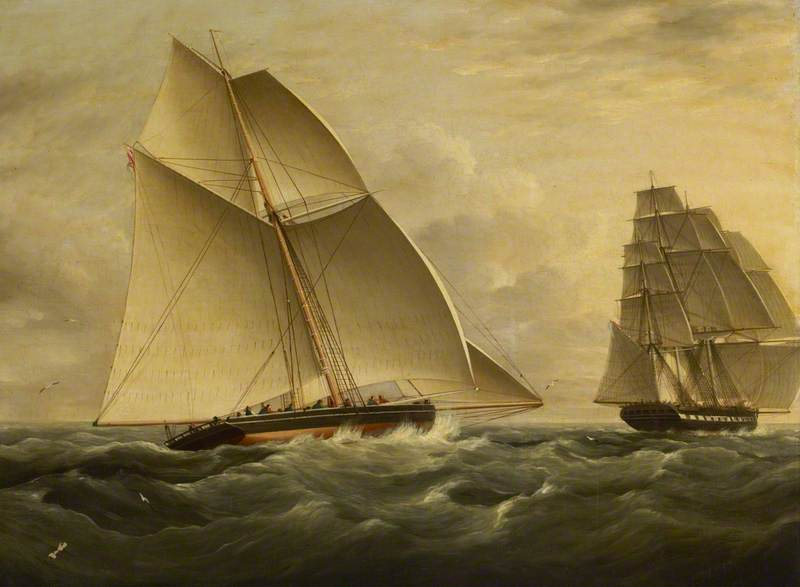 The East Indiaman 'Victorine' Pursued by the Revenue Cutter 'Prince George'
