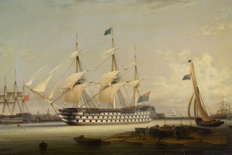 HMS 'Britannia' Entering Portsmouth Harbour