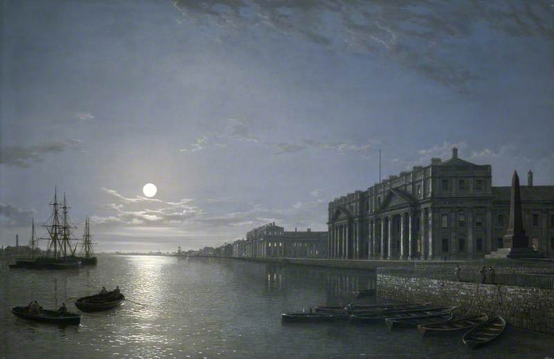 The Thames and Greenwich Hospital by Moonlight