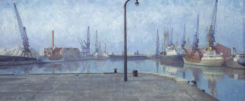Docks at Goole, Early Morning, 1971