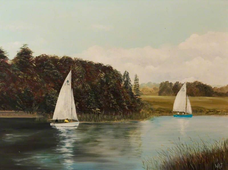 Sailing at Welbeck, Nottinghamshire