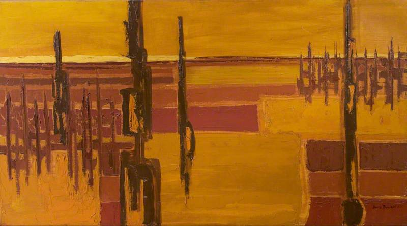 Brown and Yellow Painting