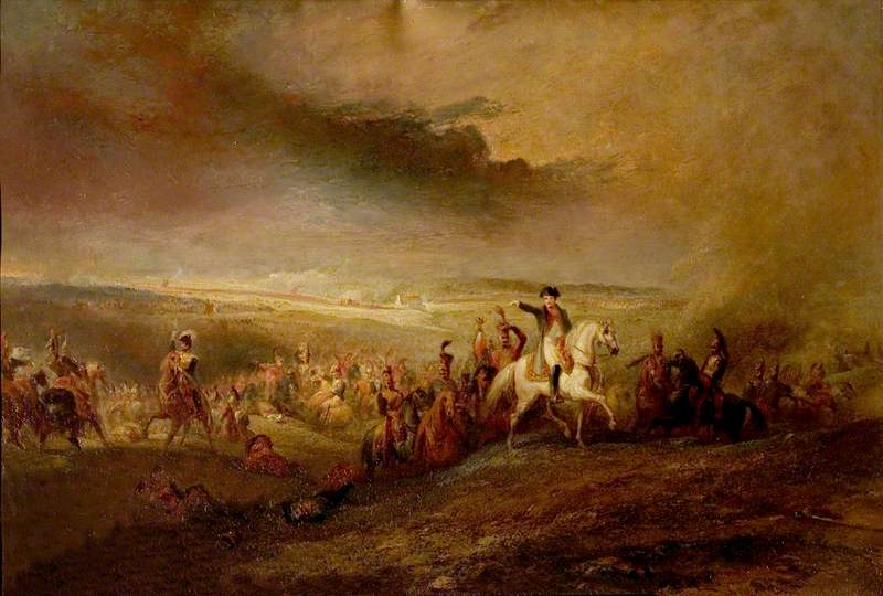 Napoleon Leaving the Field of Waterloo, 18 June 1815