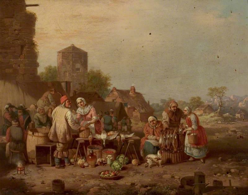 Village Market Scene