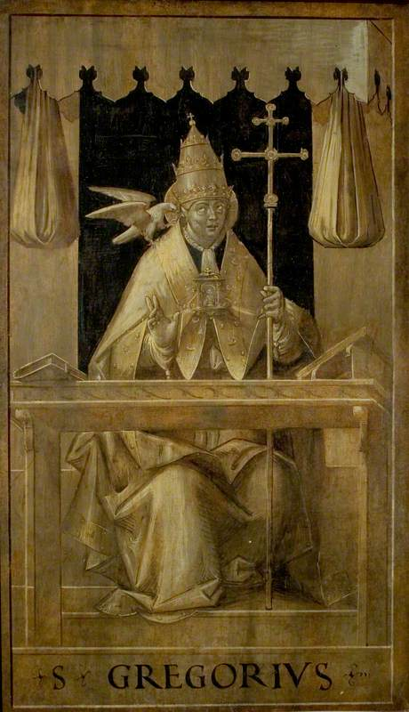 Saint Gregory in His Study