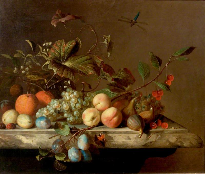 Fruit Piece with Dragonfly