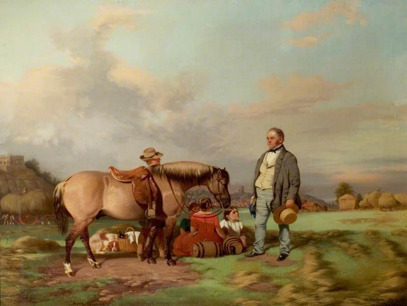 Joseph Fenton with His Family on the Meadows, Nottingham