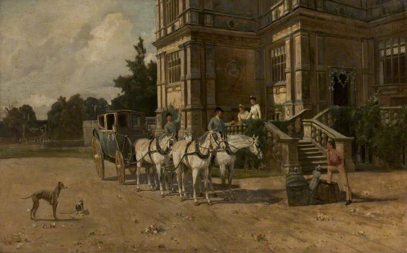 Front View of Wollaton Hall, Nottingham, with Horse and Carriage*