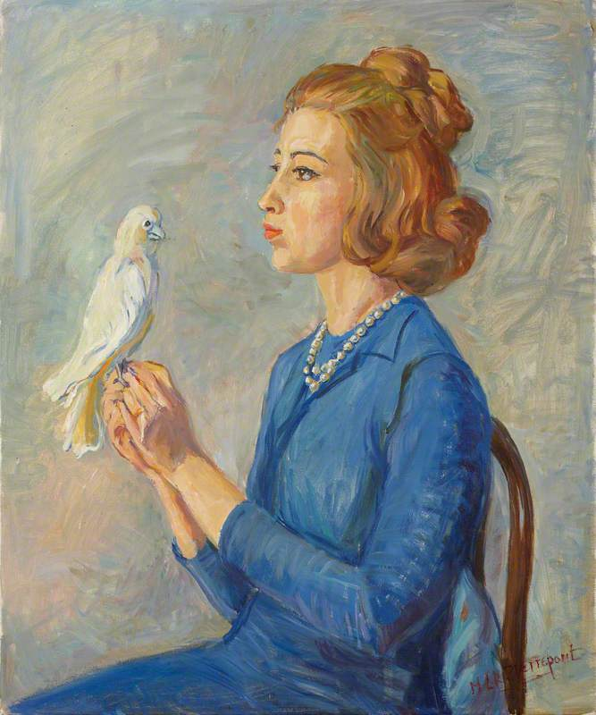Portrait of a Young Woman with a Bird
