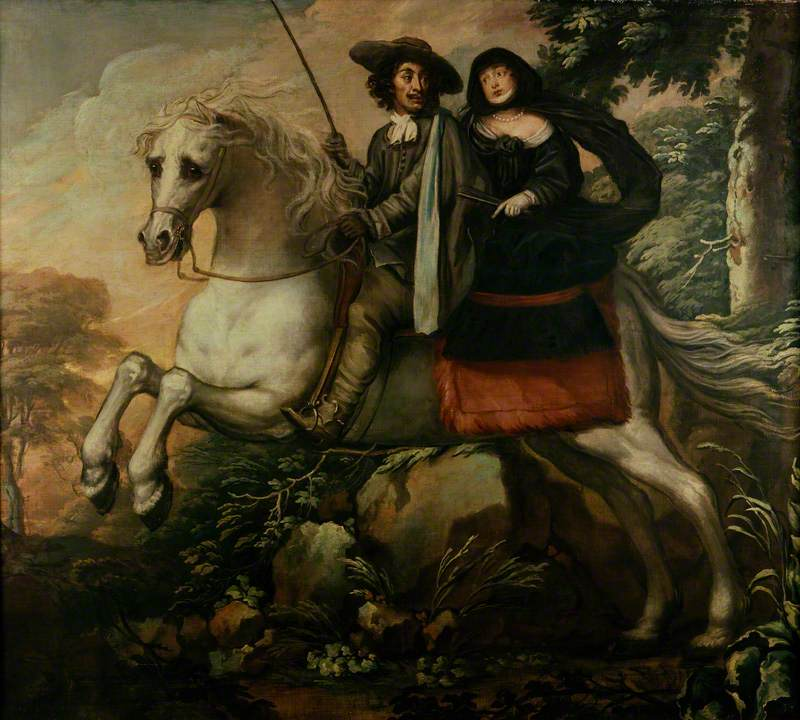 King Charles II and Jane Lane riding to Bristol