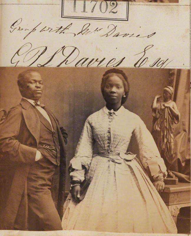 James Pinson Labulo Davies (1828–1906) and Sarah Forbes Bonetta (Sarah Davies) (1843–1880)