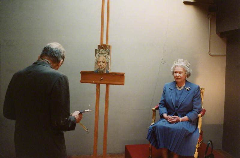 Lucian Freud and Queen Elizabeth II