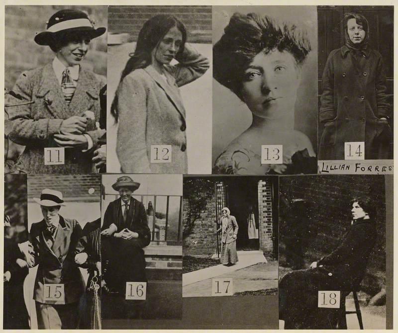 Surveillance Photograph of Militant Suffragettes