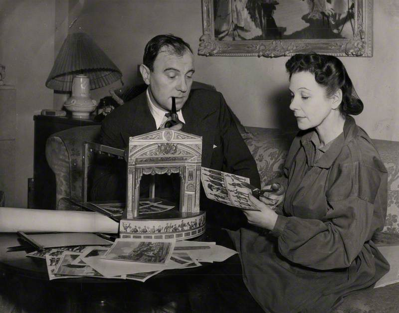 Sir Ralph Richardson and Doris Zinkeisen