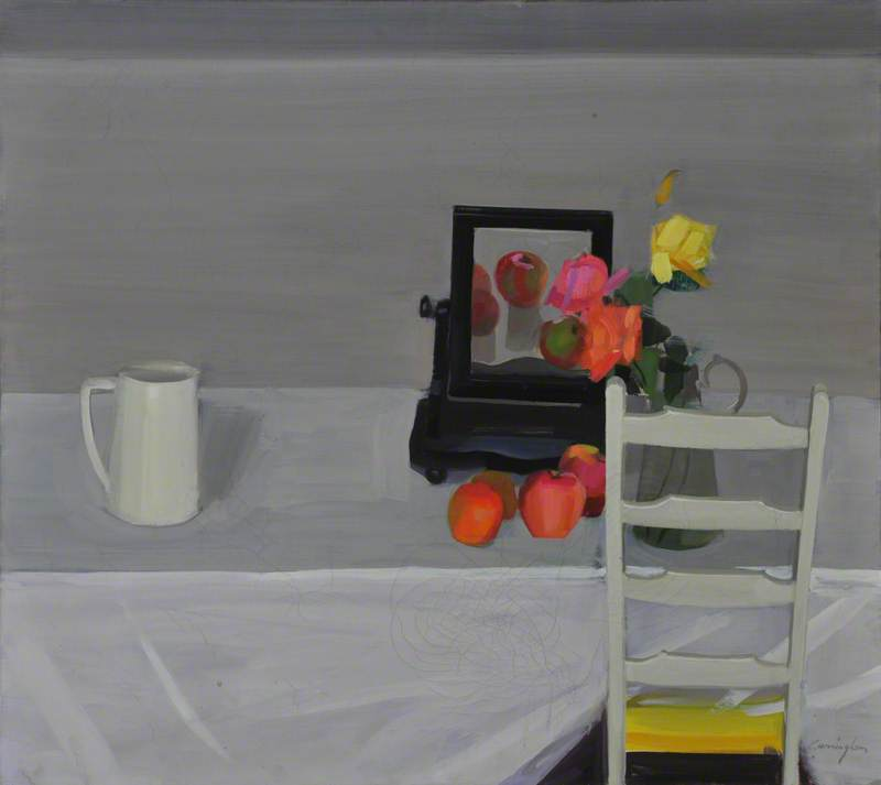Still Life with Apples and Dressing Table