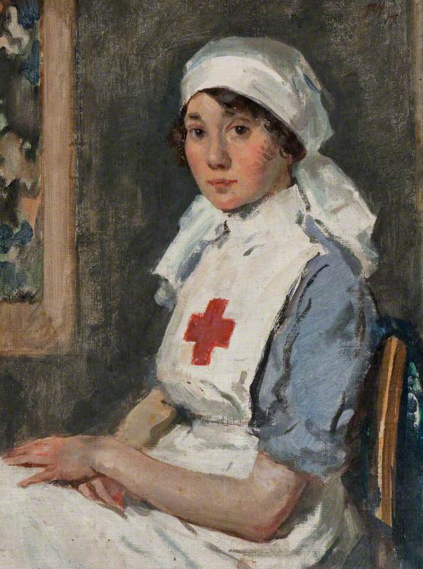 Mary Grant Lang Eley, née Anderson (1893–1980) in Red Cross Uniform