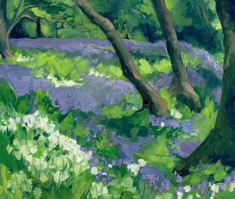 Bluebells and Wild Garlic, Armadale