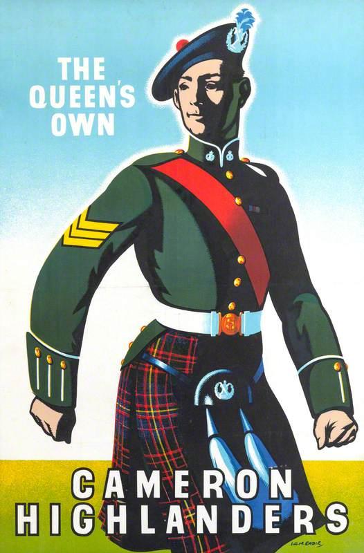 Recruiting Poster: Cameron Highlanders