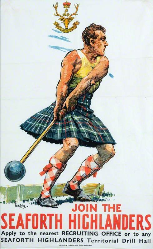 Recruiting Poster: Join the Seaforth Highlanders