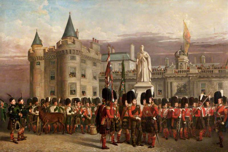 Guard of Honour of the 79th Highlanders at Holyrood, 1852