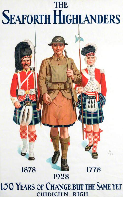Recruiting Poster: The Seaforth Highlanders: 150 Years of Change