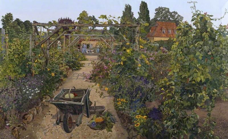 The Kitchen Garden, Barrington Court, Somerset