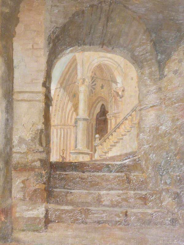 The Basilica of St Francis, Lower Entrance of the Church at Assisi