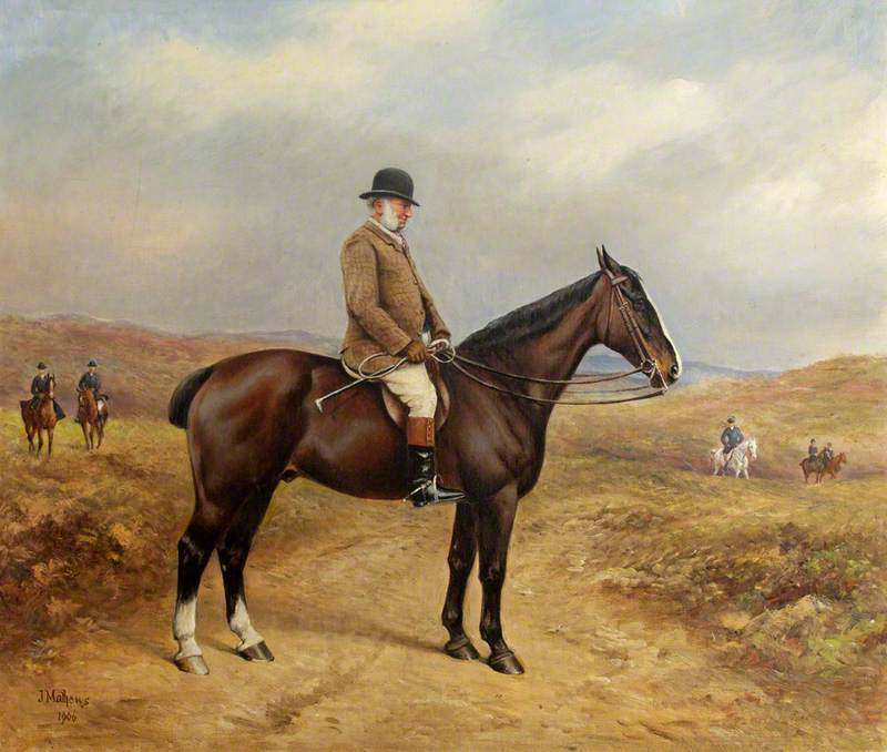 Captain George William Blathwayt (1824–1899), on a Bay Horse