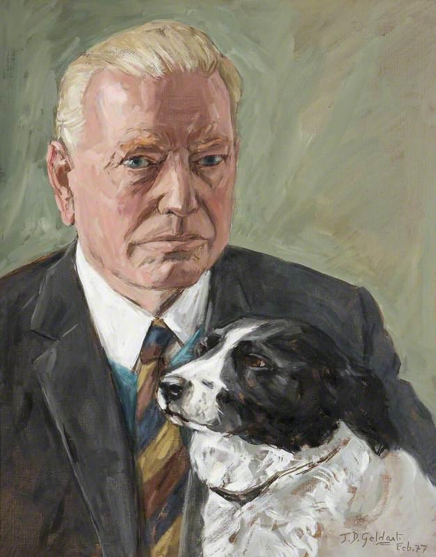 Philip Yorke III (1905–1978), with His Late Dog 'Trixie'