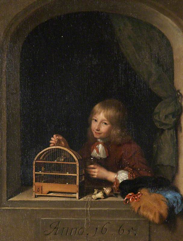 Boy with a Birdcage