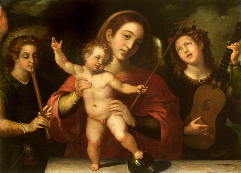 Madonna and Child with Music-Making Angels