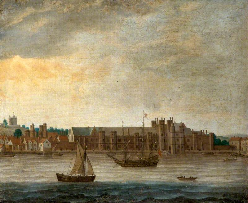 View of the Thames with the Old Palace of Placentia at Greenwich, London