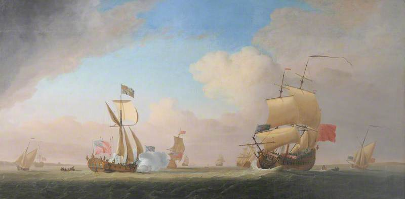 King George II in the Royal Yacht on a Return from Hanover