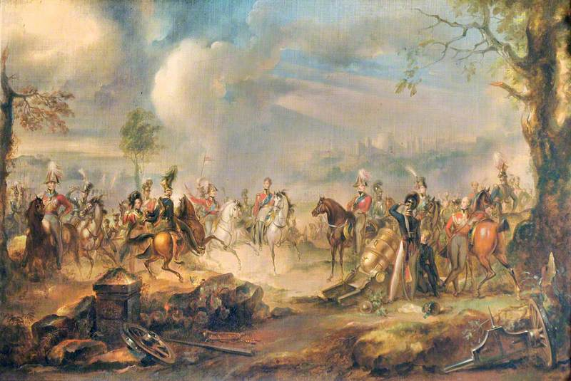 George IV and the Duke of Wellington at a Review at Windsor