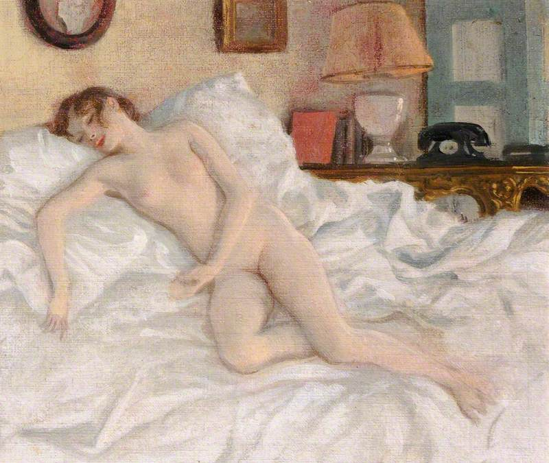 A Nude Study of Lady Caroline Paget on a Bed