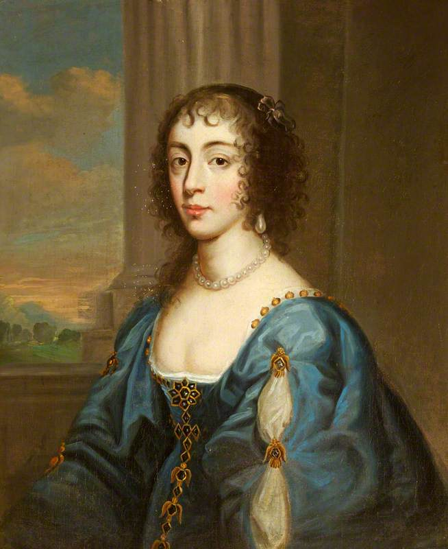 Portrait of a Lady in Blue, Modelled on Queen Henrietta Maria