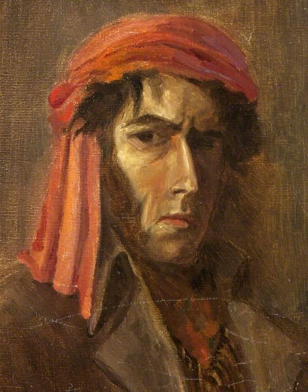 Self Portrait in a Red Turban