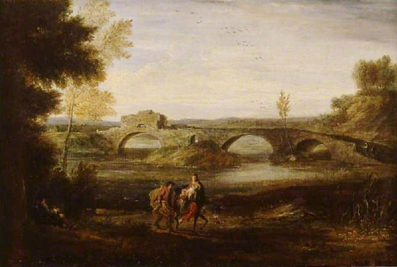 River Landscape with the Flight into Egypt