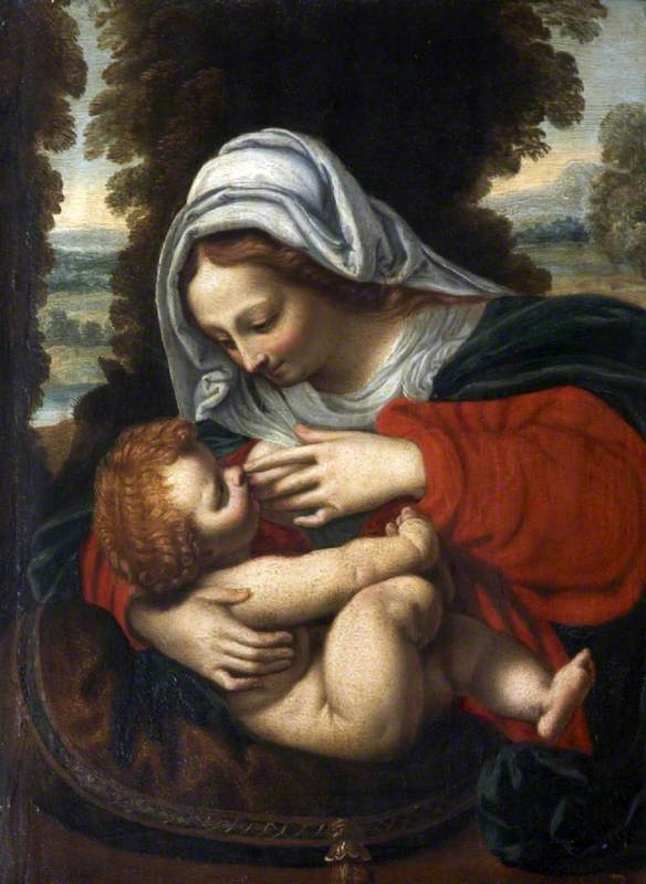La vierge au coussin vert (Madonna with the Green Cushion)
