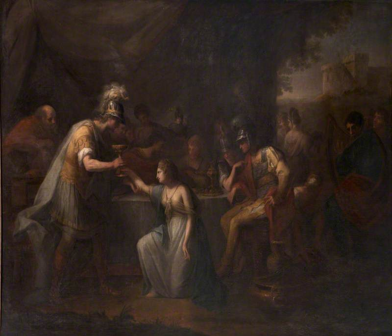 Vortigern, King of Britain, Enamoured with Rowena at the Banquet of Hengist, the Saxon General