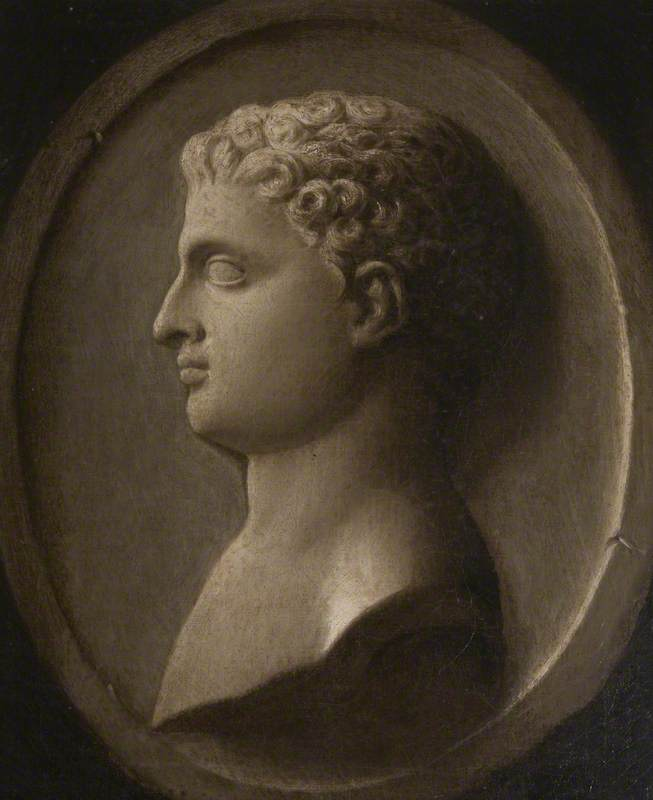 Simulated Medallion Portrait of a Roman Youth