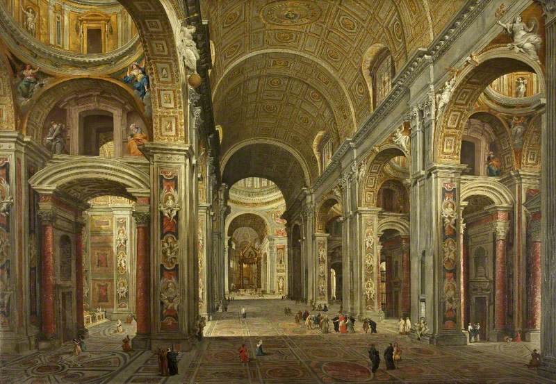 The Interior of St Peter's at Rome