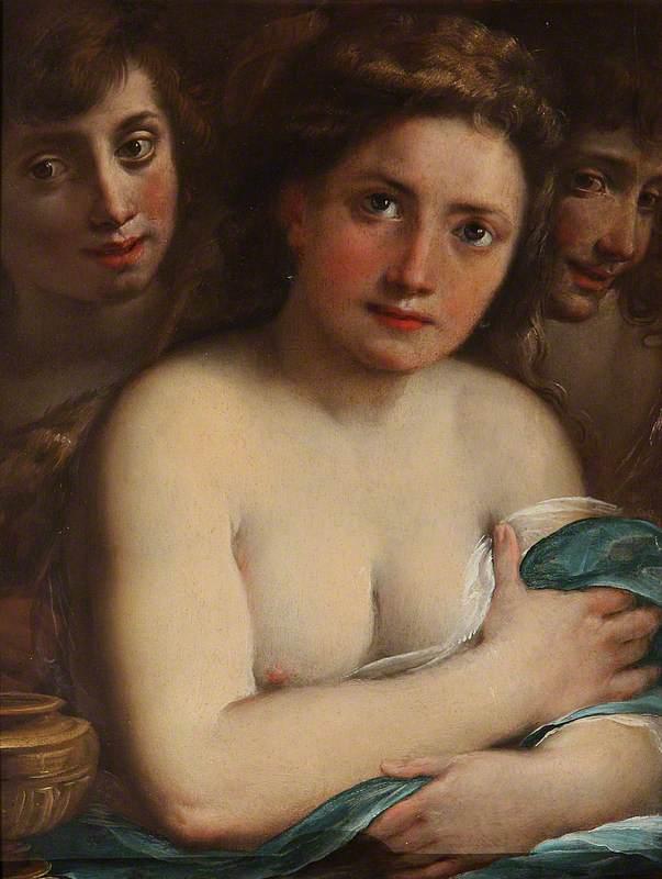 Saint Mary Magdalen with Saint John the Baptist and an Angel (?)