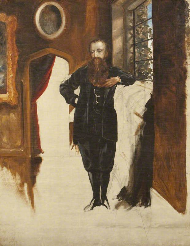 Edward Heneage Dering (1826–1892), Standing in an Interior at Baddesley Clinton