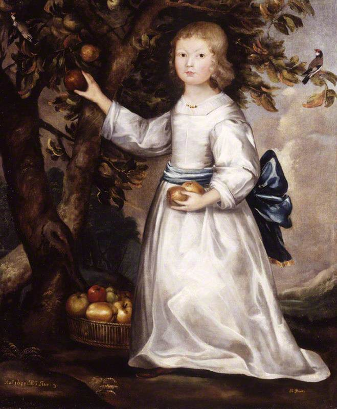 Alice Strickland (1648–1680), as a Child, Picking Apples, Aged 3
