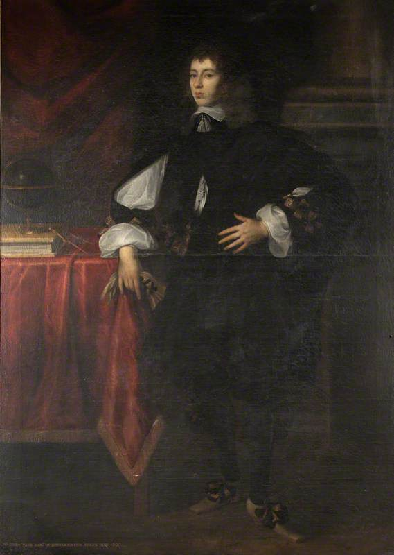 Sir Charles Yate (c.1634–c.1680), 3rd Bt, as a Young Man