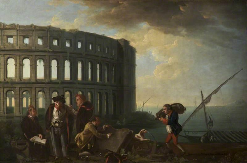 Antiquaries at Pola: Sir Henry Mainwaring (1726–1797), Bt, Jacob Houblon (b.1736), George Harry Grey (1737–1819), 5th Earl of Stamford, and the Reverend Jonan Lipyeatt