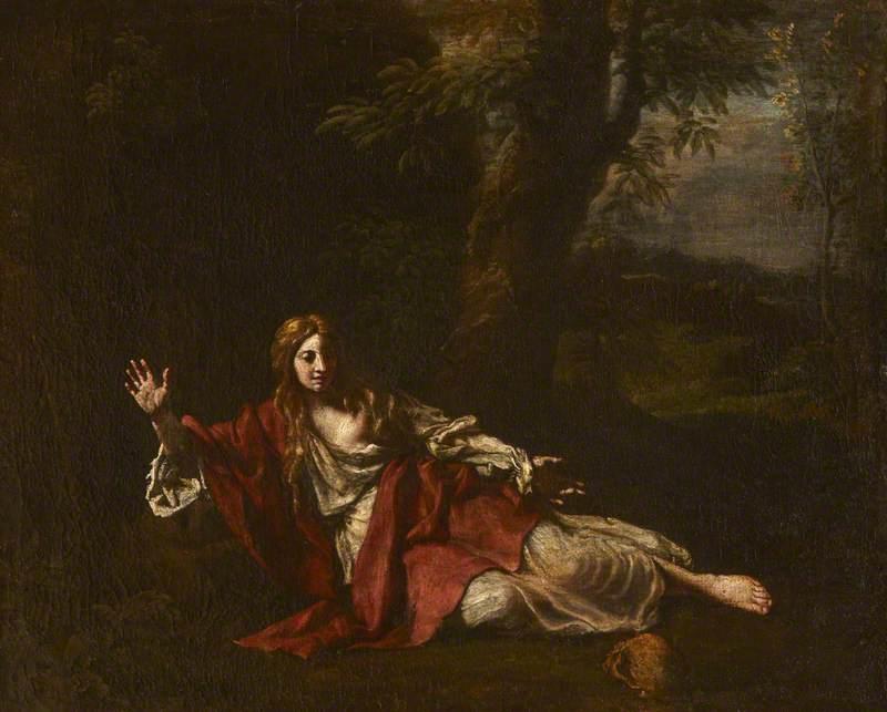 The Penitent Magdalen in a Landscape