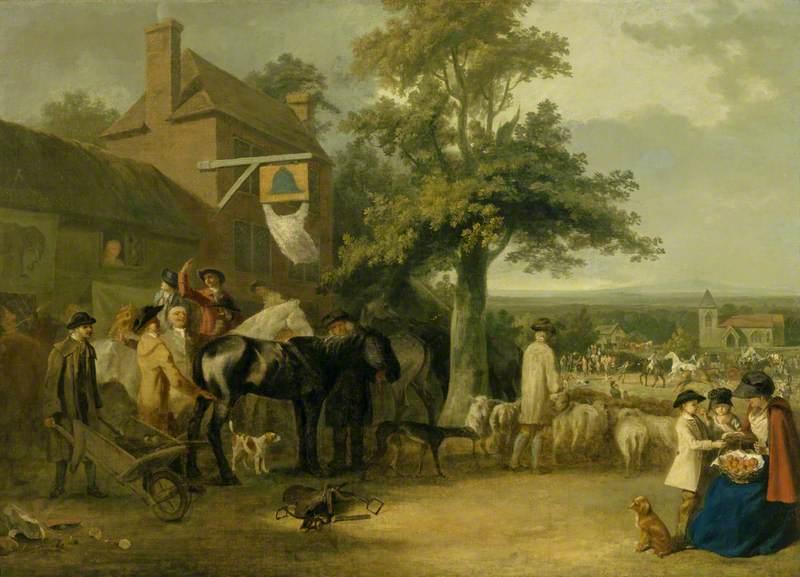 A Village Fair: An Auction of Horses (?)