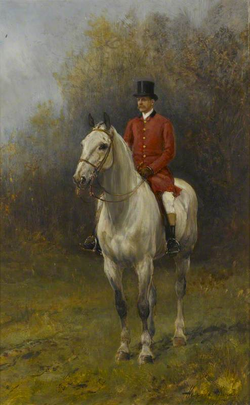 Charles Stewart Vane-Tempest-Stewart (1852–1915), 6th Marquess of Londonderry, in a Red Hunting Coat on Horseback